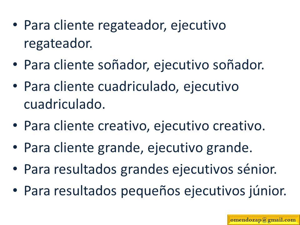 Para cliente regateador, ejecutivo regateador.