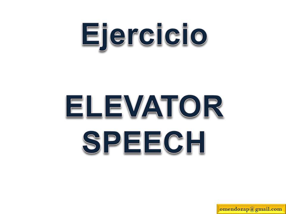 Ejercicio ELEVATOR SPEECH