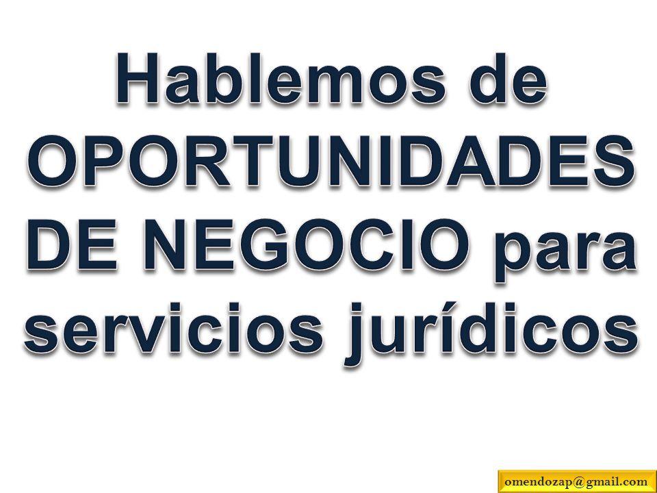 OPORTUNIDADESDE NEGOCIO para servicios jurídicos