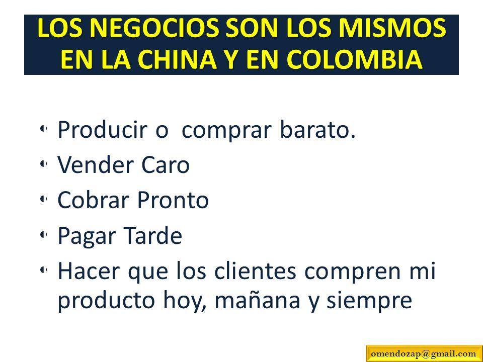 LOS NEGOCIOS SON LOS MISMOS EN LA CHINA Y EN COLOMBIA
