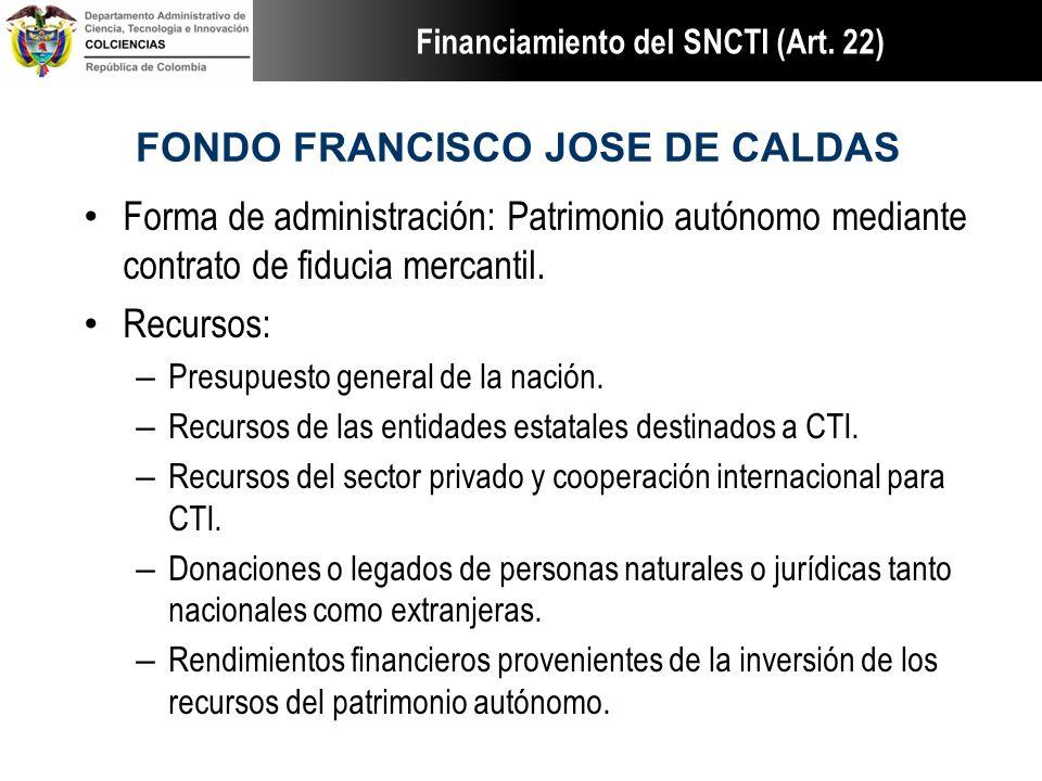 FONDO FRANCISCO JOSE DE CALDAS