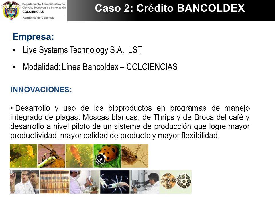 Caso 2: Crédito BANCOLDEX