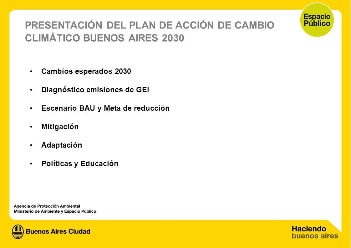 PRESENTACIÓN DEL PLAN DE ACCIÓN DE CAMBIO CLIMÁTICO BUENOS AIRES 2030