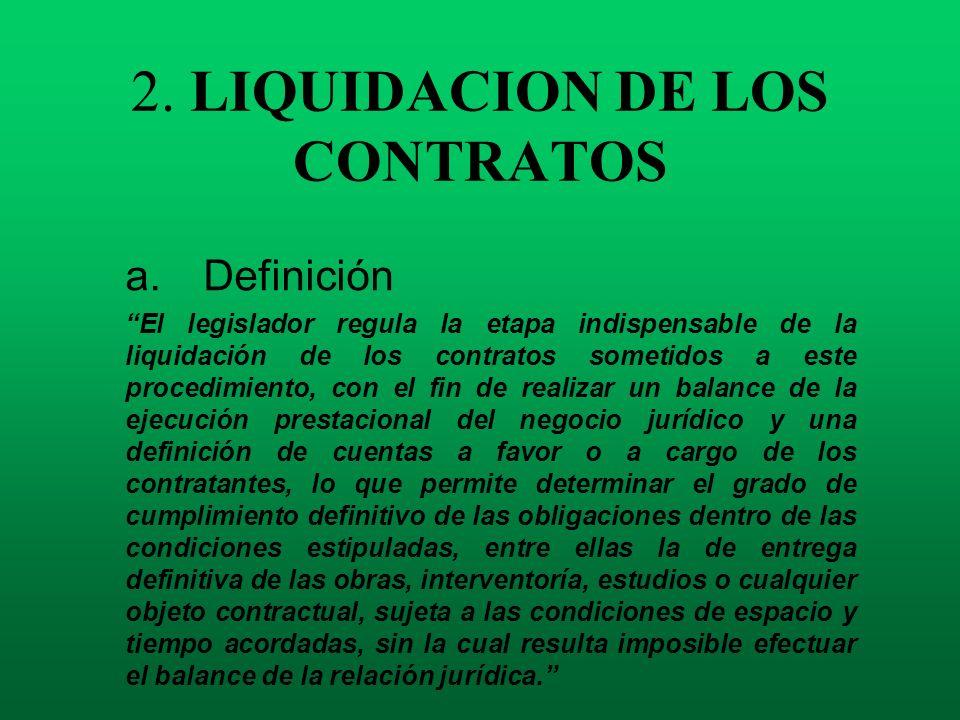 2. LIQUIDACION DE LOS CONTRATOS