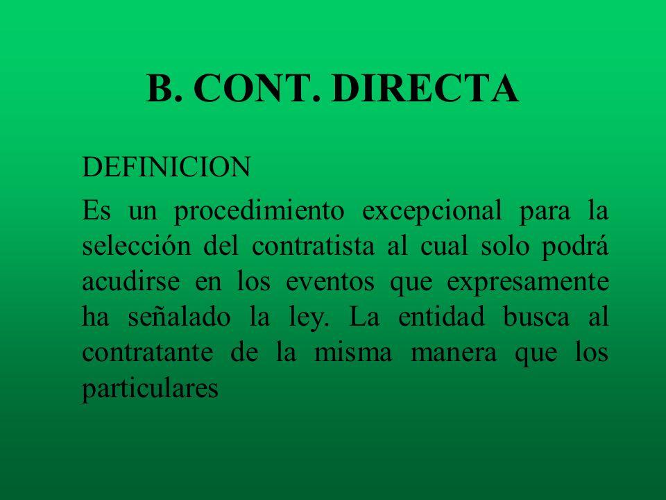 B. CONT. DIRECTA DEFINICION