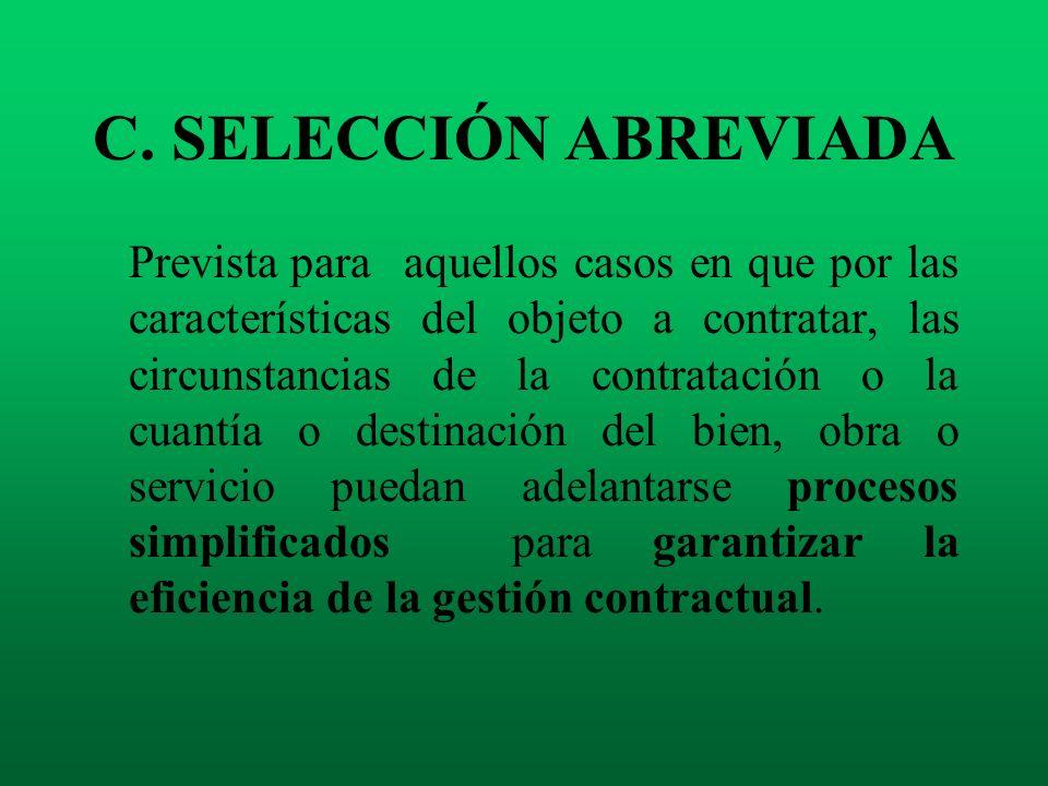 C. SELECCIÓN ABREVIADA