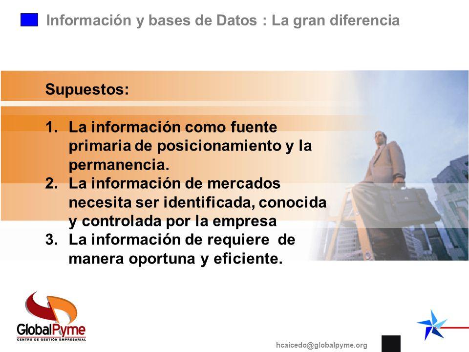 La información de requiere de manera oportuna y eficiente.