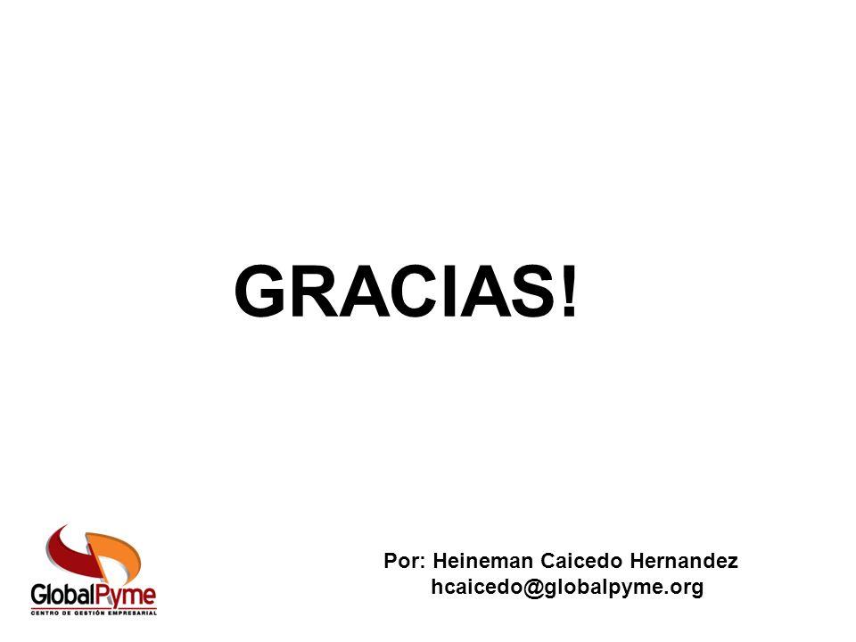 GRACIAS! Por: Heineman Caicedo Hernandez hcaicedo@globalpyme.org