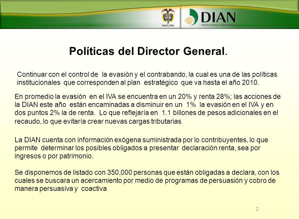 Políticas del Director General.