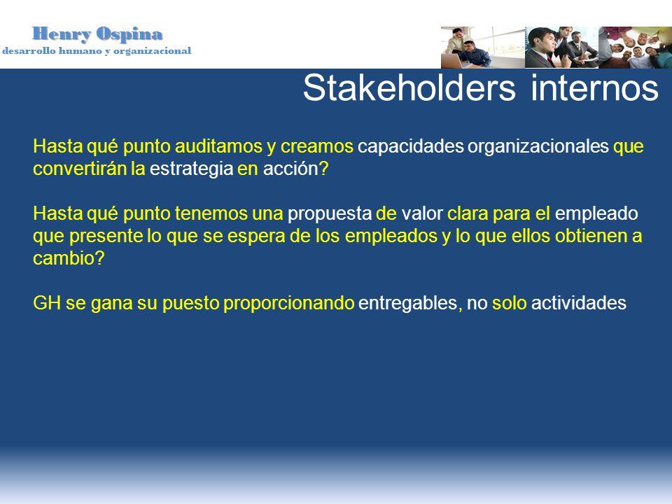 Stakeholders internos