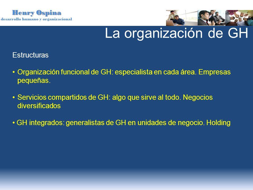 La organización de GH Estructuras