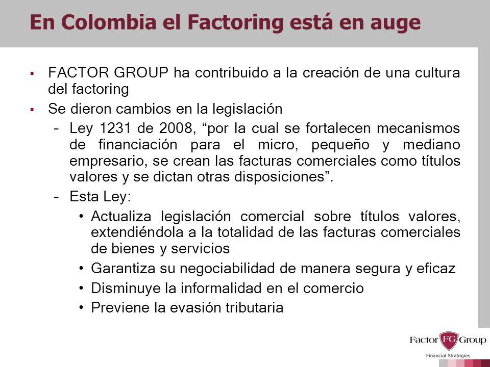 En Colombia el Factoring está en auge