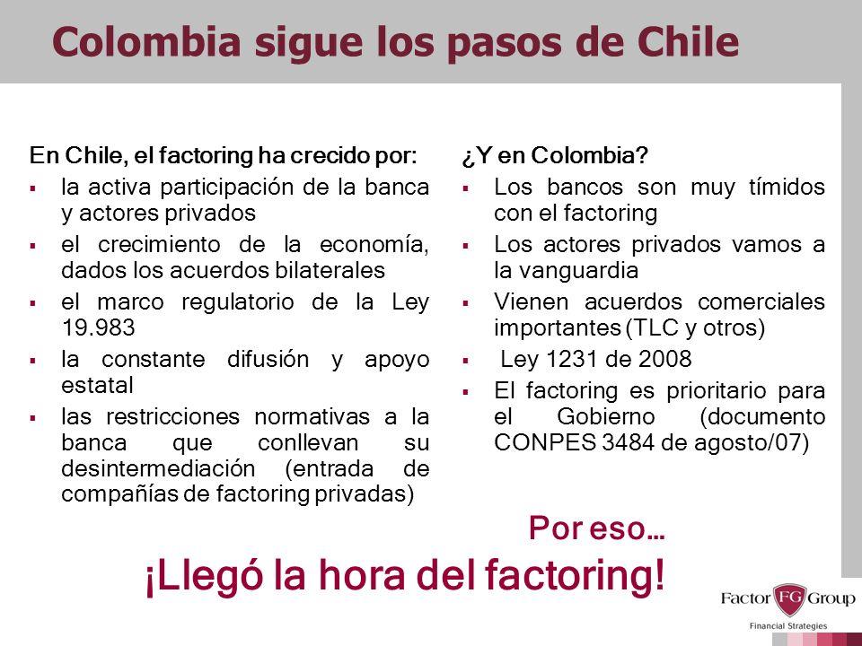 Colombia sigue los pasos de Chile
