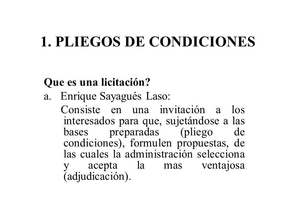 1. PLIEGOS DE CONDICIONES