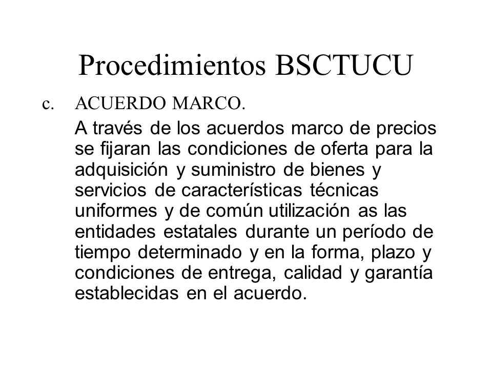 Procedimientos BSCTUCU