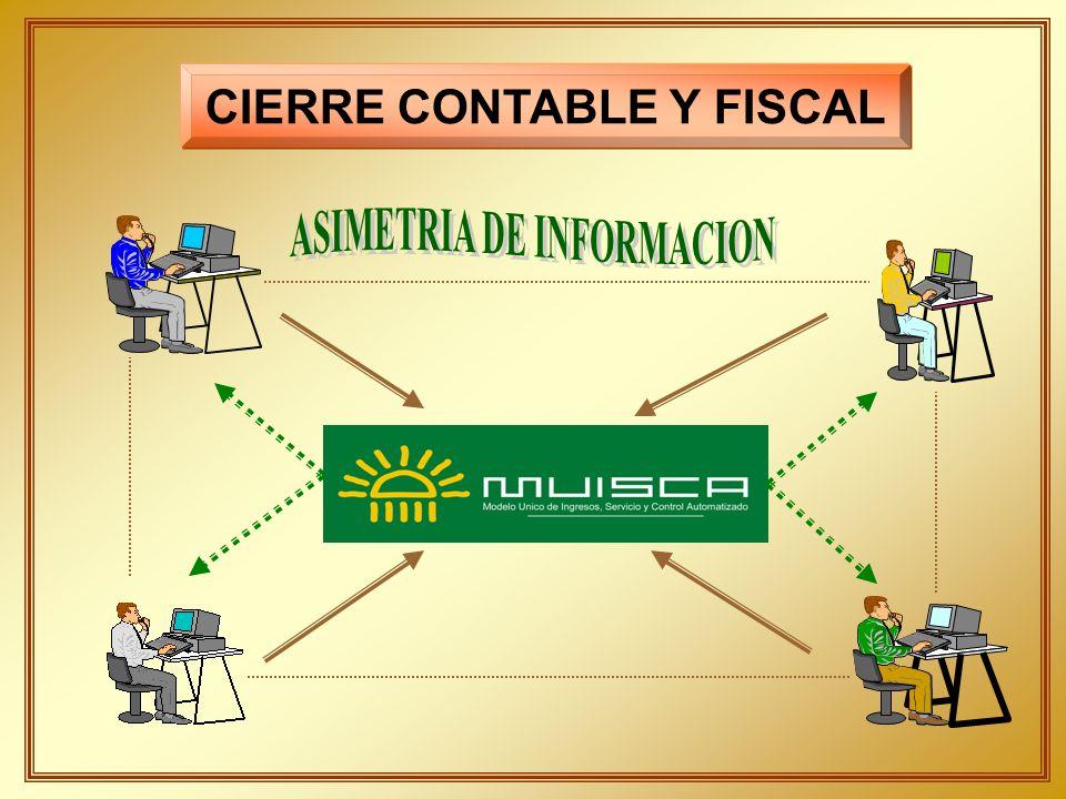 CIERRE CONTABLE Y FISCAL ASIMETRIA DE INFORMACION