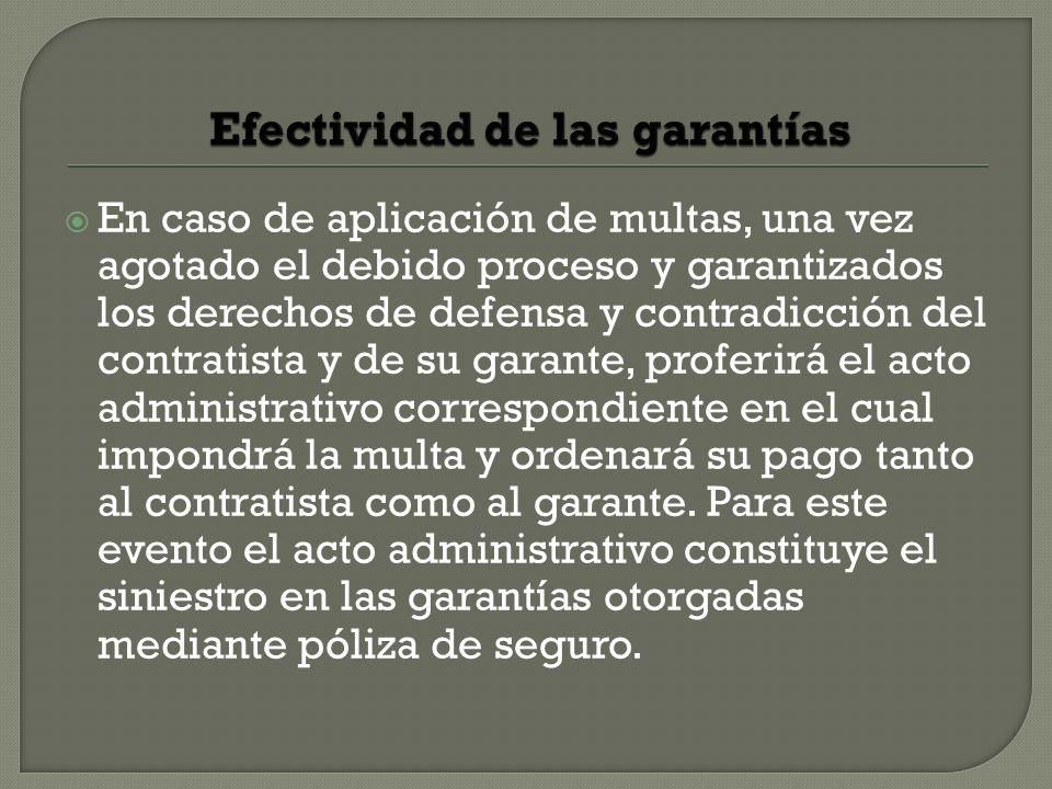 Efectividad de las garantías