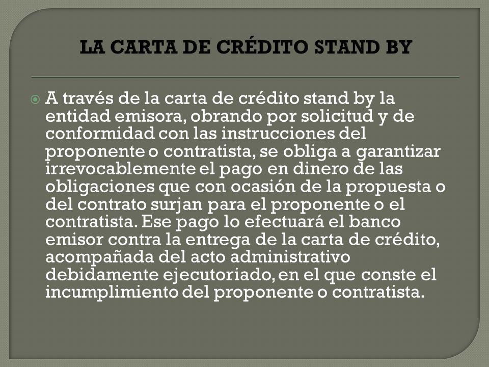 LA CARTA DE CRÉDITO STAND BY