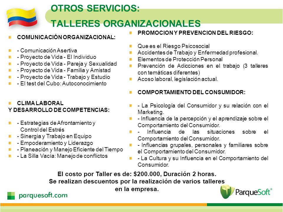 OTROS SERVICIOS: TALLERES ORGANIZACIONALES