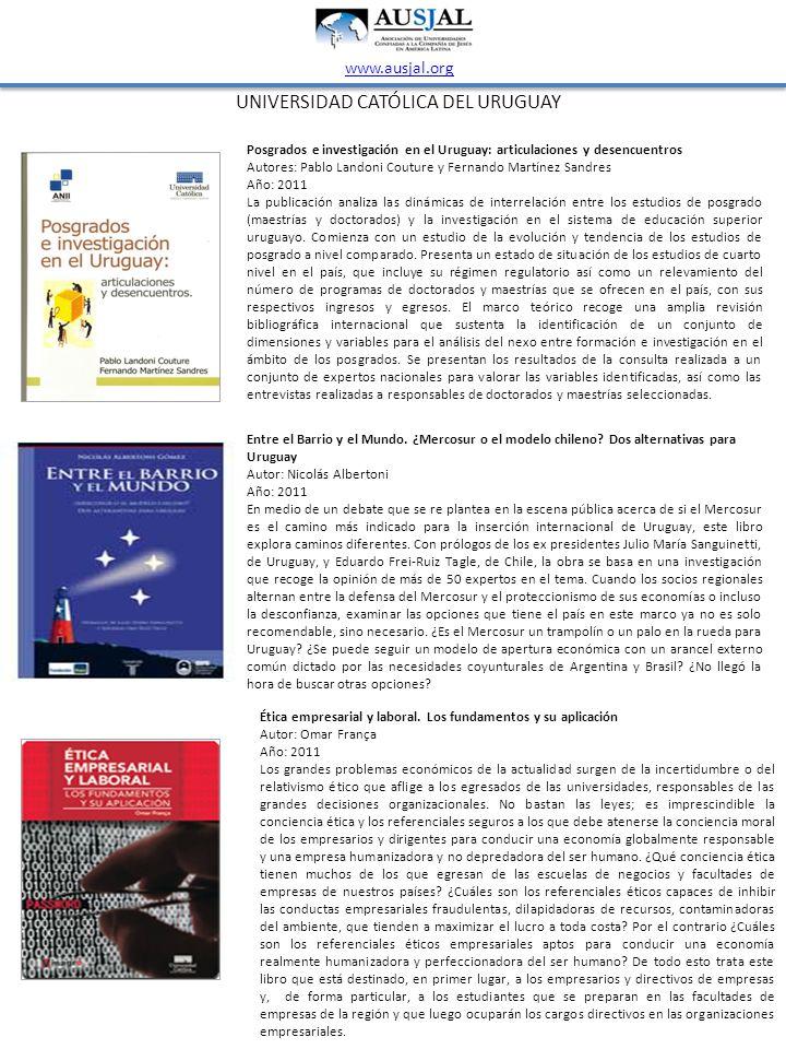 Posgrados e investigación en el Uruguay: articulaciones y desencuentros