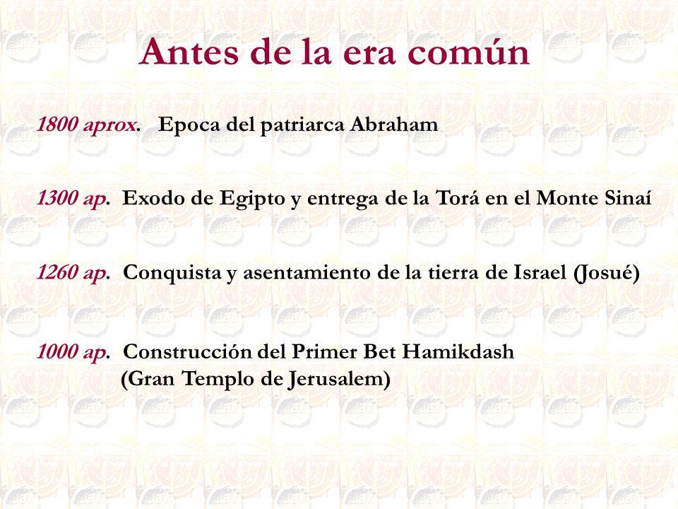 Antes de la era común 1800 aprox. Epoca del patriarca Abraham