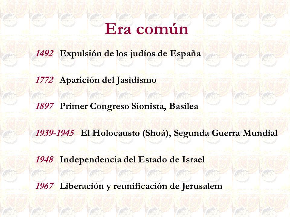 Era común 1492 Expulsión de los judíos de España