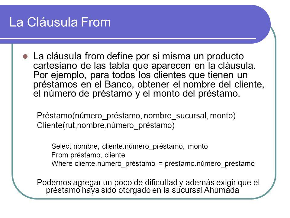 La Cláusula From