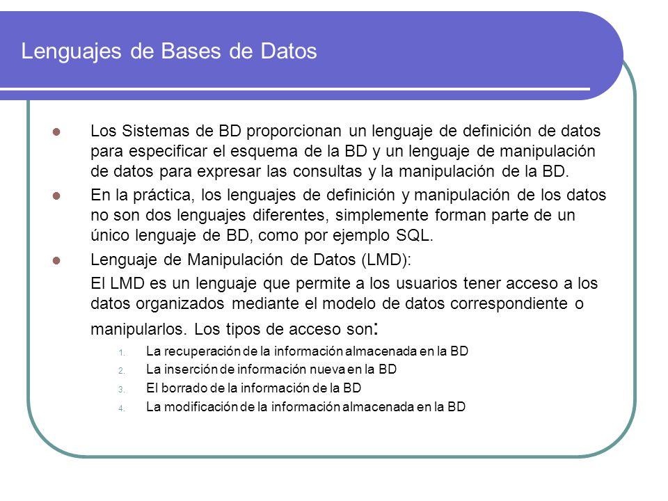 Lenguajes de Bases de Datos