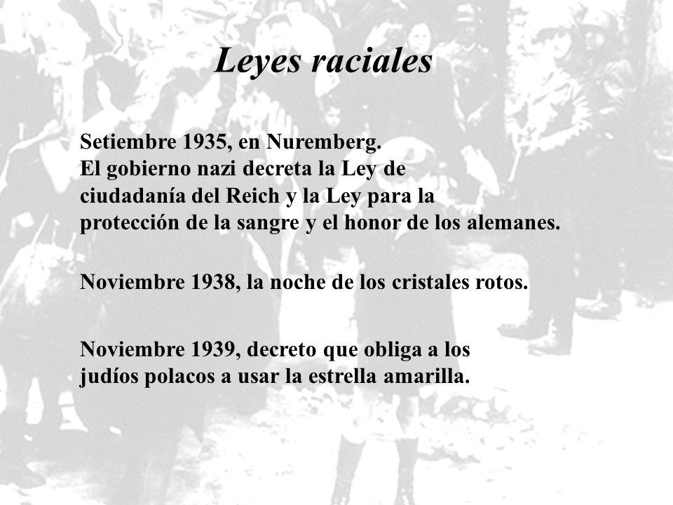 Leyes raciales Setiembre 1935, en Nuremberg.