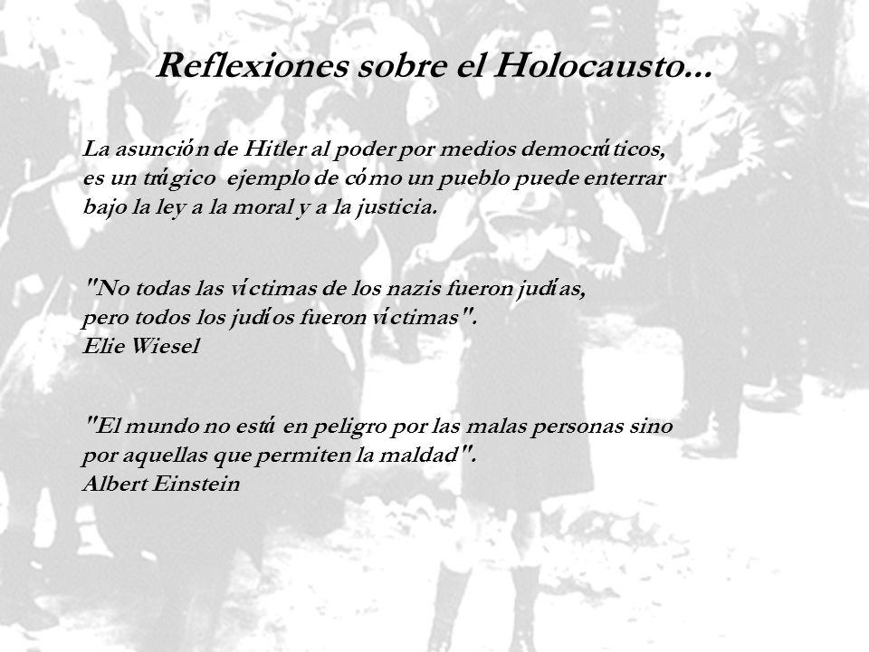 Reflexiones sobre el Holocausto...