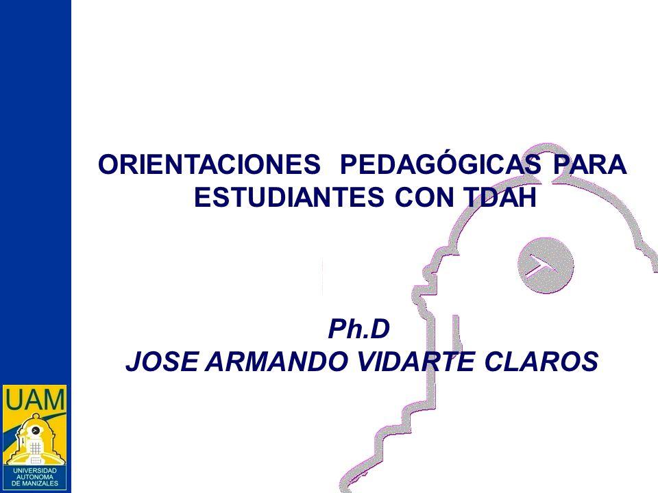 ORIENTACIONES PEDAGÓGICAS PARA JOSE ARMANDO VIDARTE CLAROS