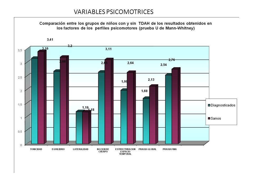 VARIABLES PSICOMOTRICES