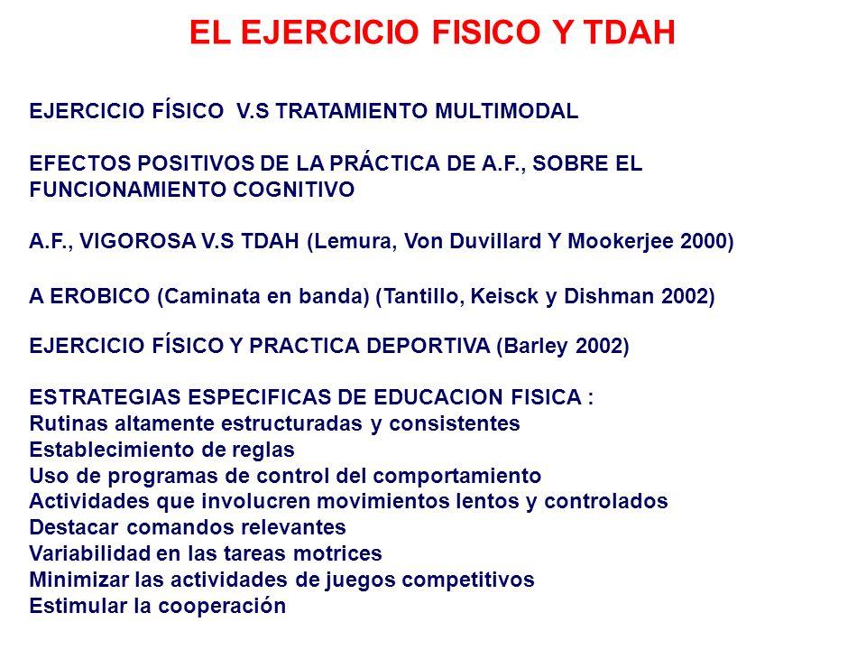 EL EJERCICIO FISICO Y TDAH