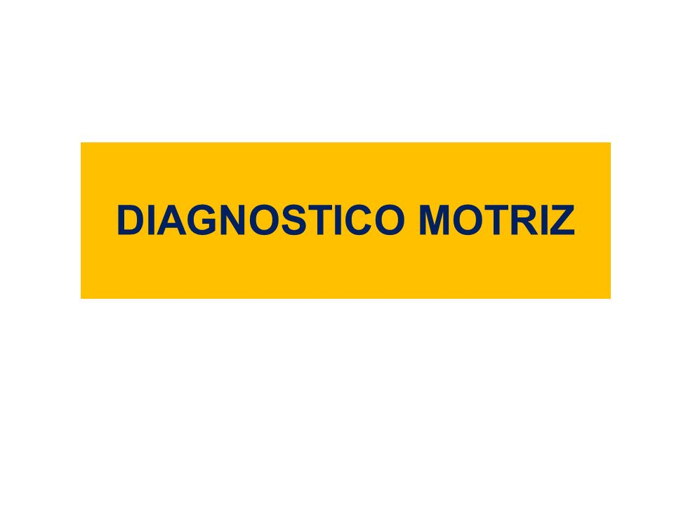 DIAGNOSTICO MOTRIZ