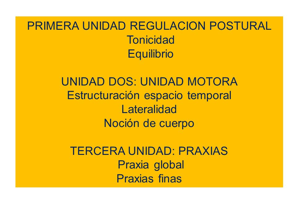 PRIMERA UNIDAD REGULACION POSTURAL Tonicidad Equilibrio