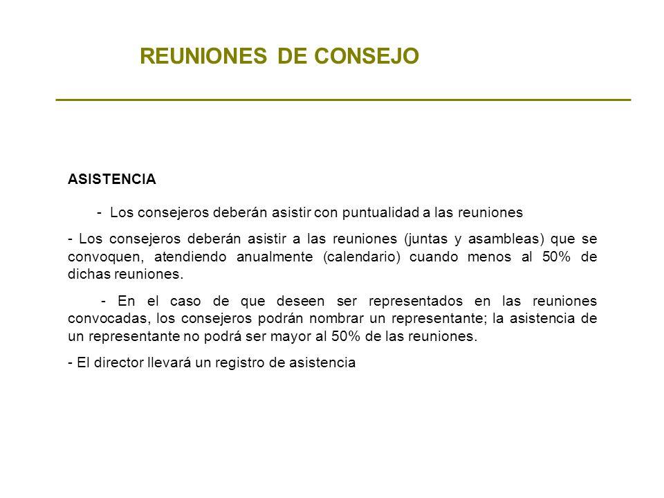 REUNIONES DE CONSEJO ASISTENCIA