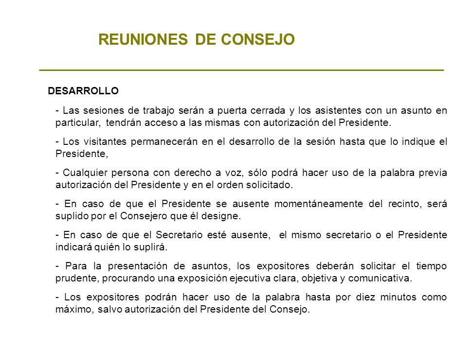 REUNIONES DE CONSEJO DESARROLLO