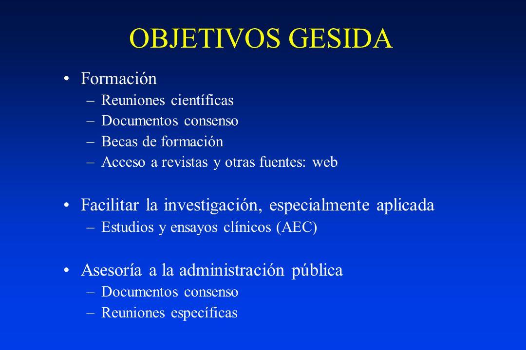 OBJETIVOS GESIDA Formación