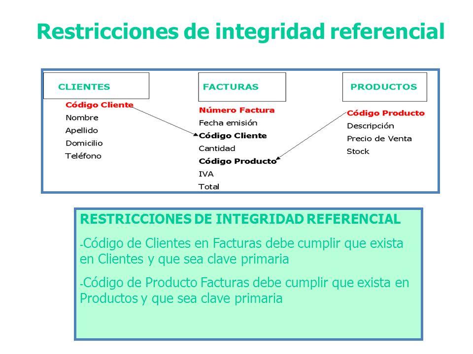 Restricciones de integridad referencial