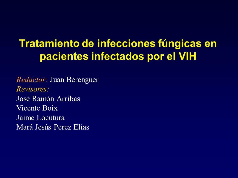 Tratamiento de infecciones fúngicas en pacientes infectados por el VIH