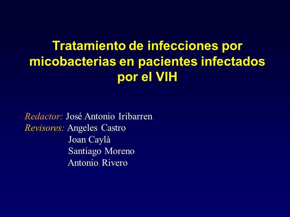 Tratamiento de infecciones por micobacterias en pacientes infectados por el VIH