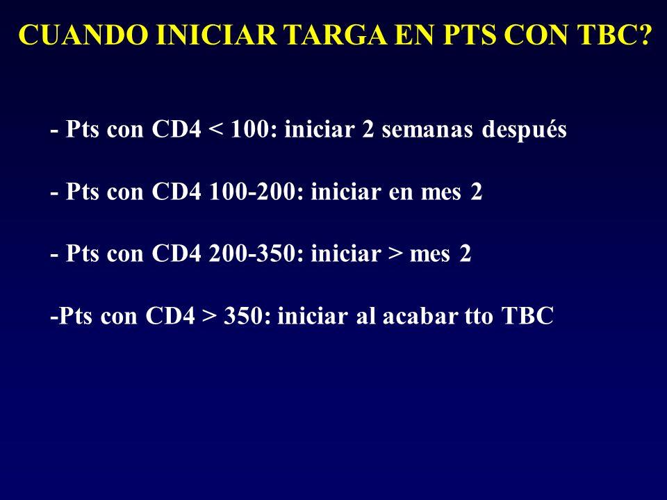 CUANDO INICIAR TARGA EN PTS CON TBC