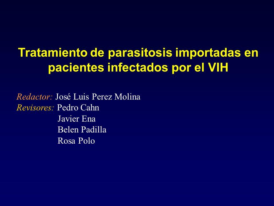 Tratamiento de parasitosis importadas en pacientes infectados por el VIH