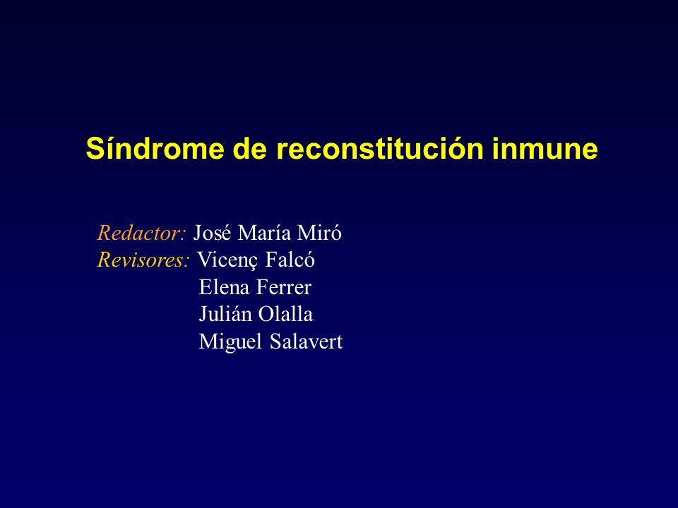Síndrome de reconstitución inmune