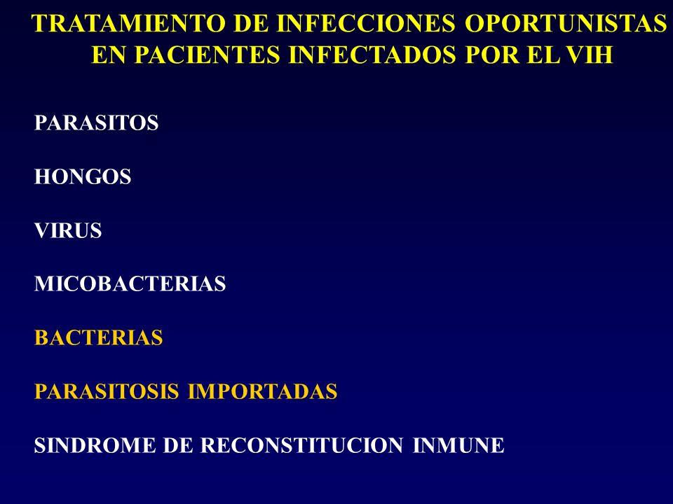 TRATAMIENTO DE INFECCIONES OPORTUNISTAS