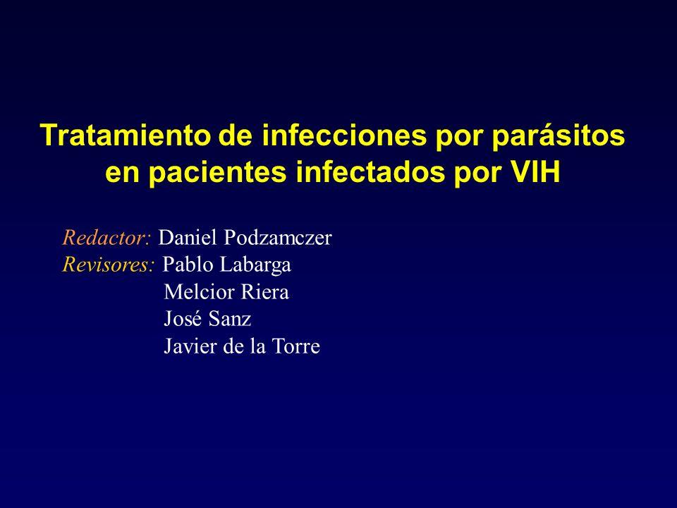 Tratamiento de infecciones por parásitos en pacientes infectados por VIH