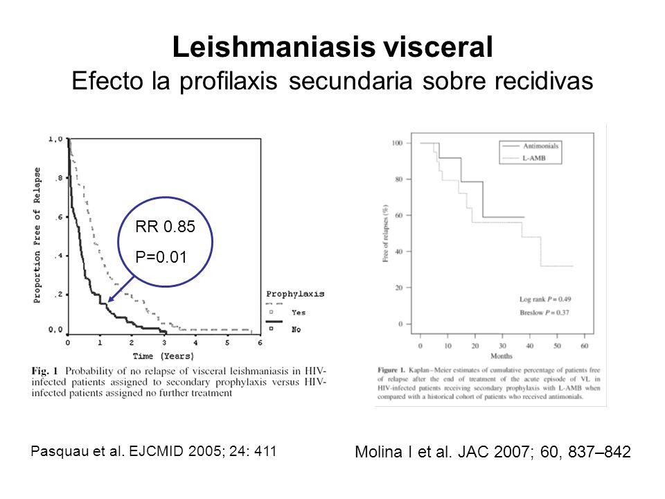 Leishmaniasis visceral Efecto la profilaxis secundaria sobre recidivas