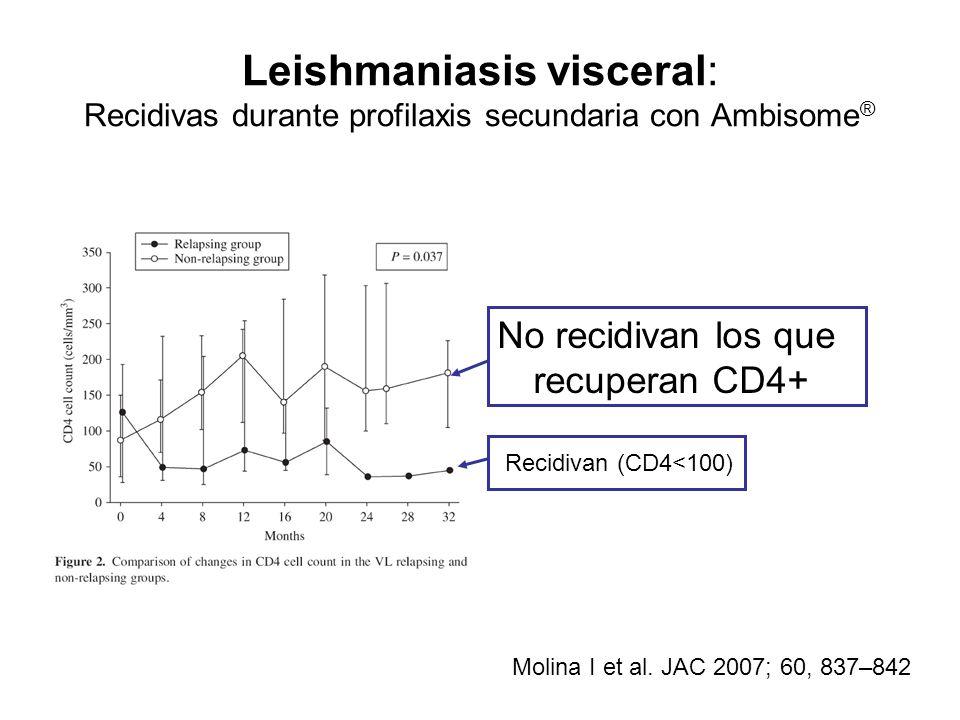 Leishmaniasis visceral: Recidivas durante profilaxis secundaria con Ambisome®