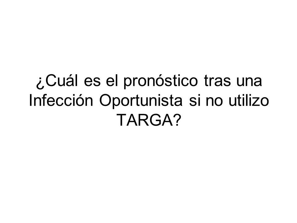 ¿Cuál es el pronóstico tras una Infección Oportunista si no utilizo TARGA