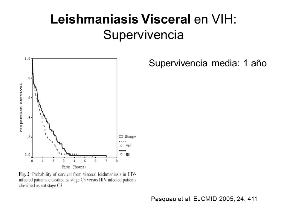 Leishmaniasis Visceral en VIH: Supervivencia